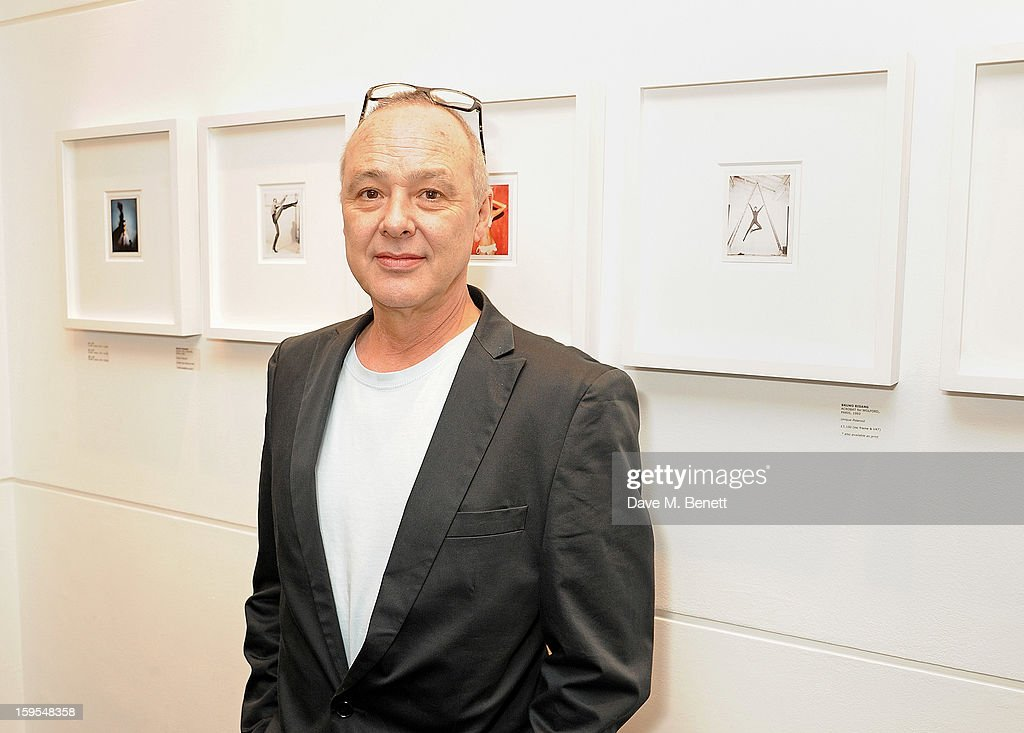 Bruno Bisang attends a private view of 'Bruno Bisang: 30 Years Of Polaroids' at The Little Black Gallery on January 15, 2013 in London, England.