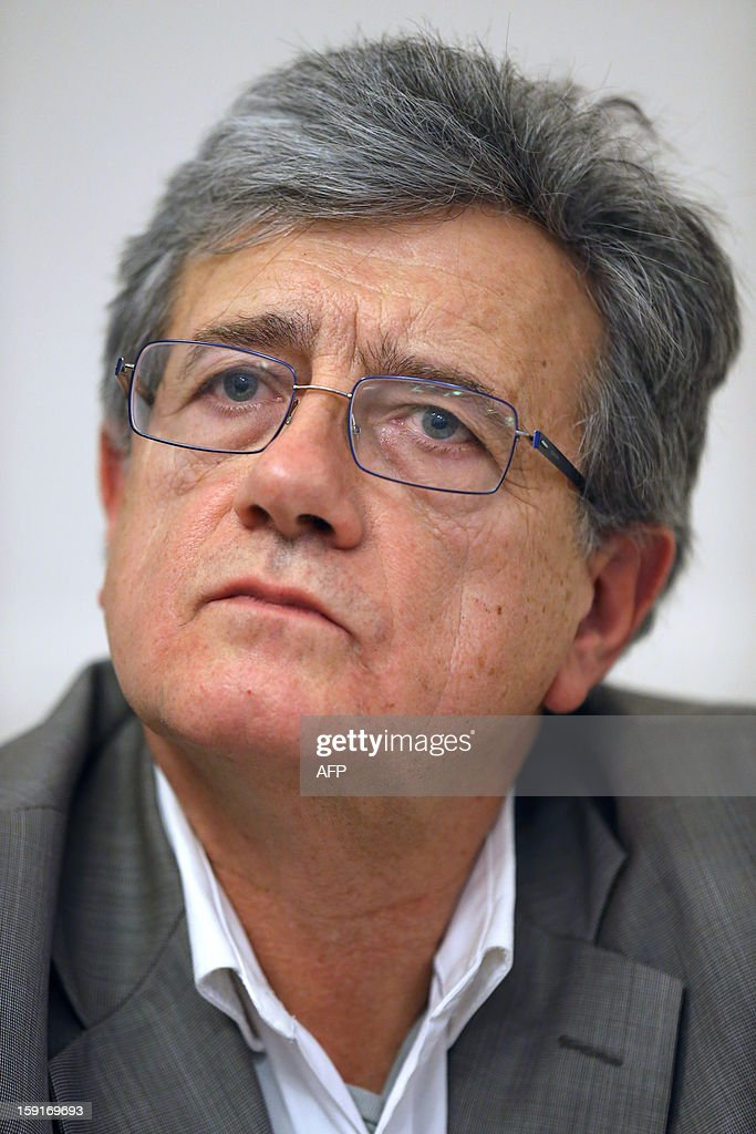 Bruno Bongapenka, president of the Estelle association, take part in a press conference on January 9, 2013 in Paris, ten years after Estelle Mouzin went missing when she was 9 years old.