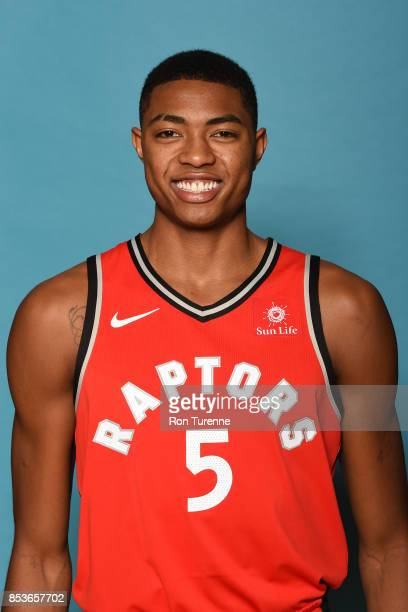 Bruno Caboclo of the Toronto Raptors poses for a head shot during Media Day on September 25 2017 at the BioSteel Centre in Toronto Ontario Canada...