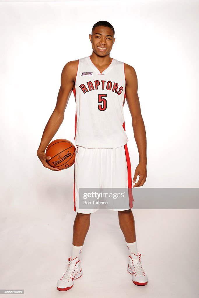 <a gi-track='captionPersonalityLinkClicked' href=/galleries/search?phrase=Bruno+Caboclo&family=editorial&specificpeople=12933791 ng-click='$event.stopPropagation()'>Bruno Caboclo</a> #5 of the Toronto Raptors poses for a photo during Media Day at the Air Canada Centre in Toronto, Ontario, Canada on September 29, 2014.