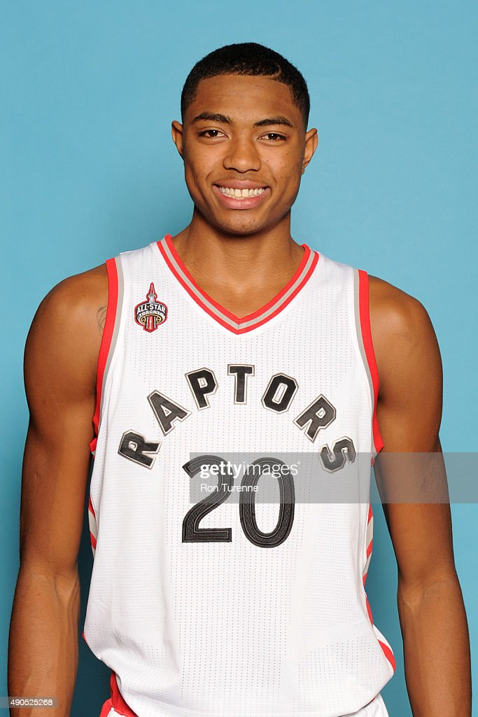 <a gi-track='captionPersonalityLinkClicked' href=/galleries/search?phrase=Bruno+Caboclo&family=editorial&specificpeople=12933791 ng-click='$event.stopPropagation()'>Bruno Caboclo</a> #20 of the Toronto Raptors poses for a photo during media day on September 28, at the Air Canada Centre in Toronto, Ontario, Canada.