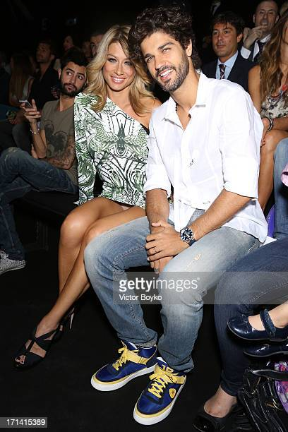 Bruno Cabrerizo and Maddalena Corvaglia attend the John Richmond show during Milan Menswear Fashion Week Spring Summer 2014 show on June 24 2013 in...