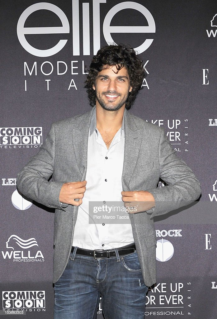 Bruno Cabrerizo attends 2012 Elite model look Italia photocall on October 8, 2012 in Milan, Italy.