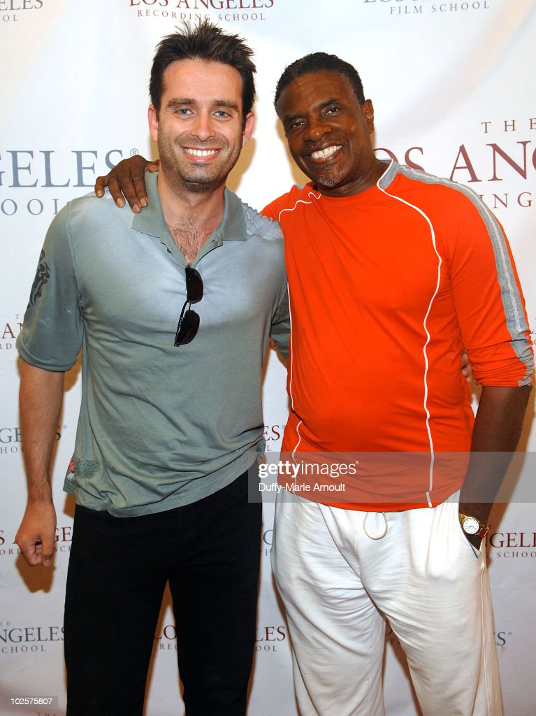 Bruno Campos and Keith David attend a screening of 'The Princess and the Frog' for Maryvale at Los Angeles Film School on July 1 2010 in Los Angeles...