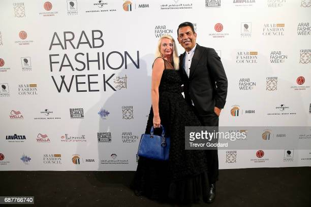 Bruno Caruso Privee and guest attend the Arab Fashion Week Ready Couture Resort 2018 Gala Dinner on May 202017 at Armani Hotel in Dubai United Arab...
