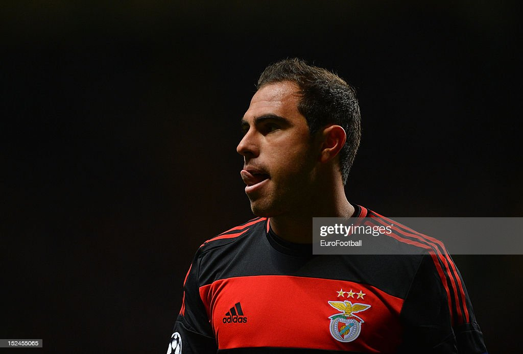 Bruno Cesar of SL Benfica during the UEFA Champions League group stage match between Celtic FC and SL Benfica on September 19, 2012 at Celtic Park in Glasgow, Scotland.