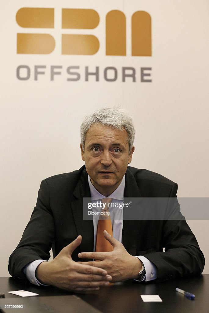 Bruno Chabas, chief executive officer of SBM Offshore NV, speaks during an interview at the 2016 Offshore Technology Conference (OTC) in Houston, Texas, U.S., on Monday, May 2, 2016. The OTC gathers energy professionals to exchange ideas and opinions to advance scientific and technical knowledge for offshore resources. Photographer: Aaron M. Sprecher/Bloomberg via Getty Images