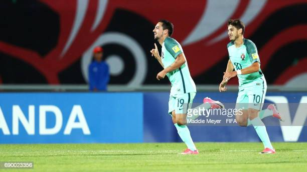 Bruno Costa of Portugal celebrates with Xadas after scoring his teams second goal during the FIFA U20 World Cup Korea Republic 2017 Round of 16 match...