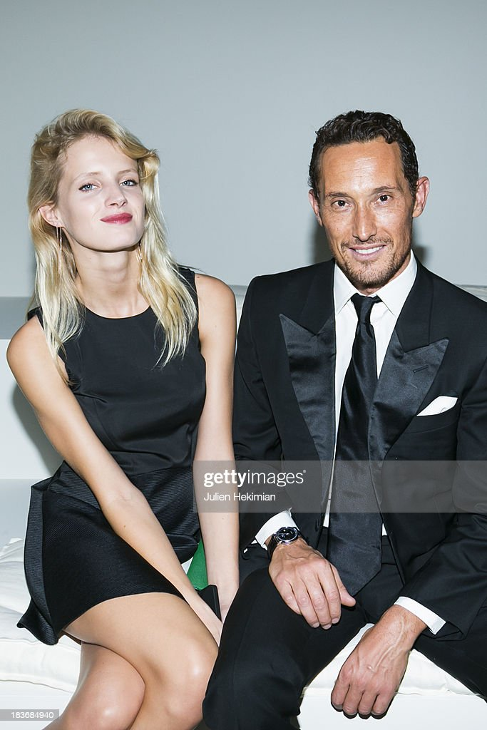 Bruno Danto (R) and Fanny Francois attend the presentation of the Ralph Lauren Fall 13 Collection Show at Les Beaux-Arts de Paris on October 8, 2013 in Paris, France. On this occasion Ralph Lauren celebrates the restoration project and patron sponsorship of L'Ecole des Beaux-Arts.