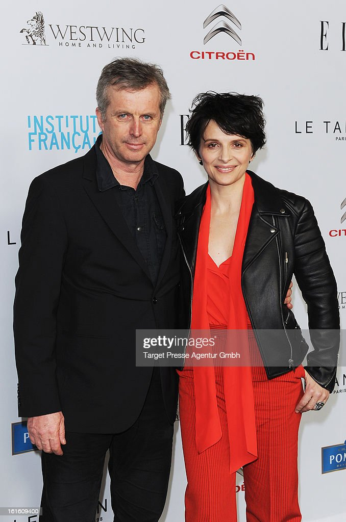Bruno Dumont and Juliette Binoche attend the 'Soiree Francaise Du Cinema' at the French embassy on February 12, 2013 in Berlin, Germany.
