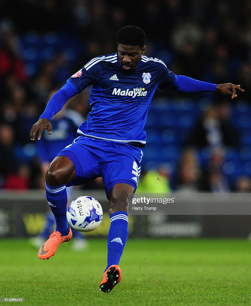 <a gi-track='captionPersonalityLinkClicked' href=/galleries/search?phrase=Bruno+Ecuele+Manga&family=editorial&specificpeople=7115761 ng-click='$event.stopPropagation()'>Bruno Ecuele Manga</a> of Cardiff City during the Sky Bet Championship match between Cardiff City and Leeds United at the Cardiff City Stadium on March 8, 2016 in Cardiff, Wales.