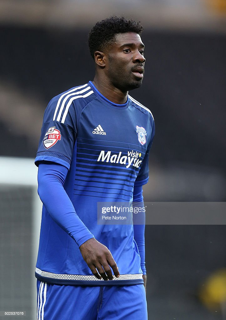 <a gi-track='captionPersonalityLinkClicked' href=/galleries/search?phrase=Bruno+Ecuele+Manga&family=editorial&specificpeople=7115761 ng-click='$event.stopPropagation()'>Bruno Ecuele Manga</a> of Cardiff City in action during the Sky Bet Championship match between Milton Keynes Dons and Cardiff City at stadium:mk on December 26, 2015 in Milton Keynes, United Kingdom.