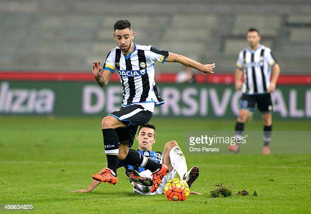 Bruno Fernandes Borges of Udinese Calcio is challenged to Alberto Grassi of Atalanta BC during the TIM Cup match between Udinese Calcio and Atalanta...
