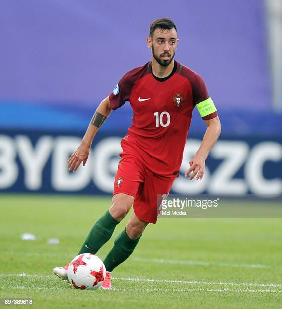 Bruno Fernandes during the UEFA European Under21 match between Portugal and Serbia at Arena Bydgoszcz on June 17 2017 in Bydgoszcz Poland