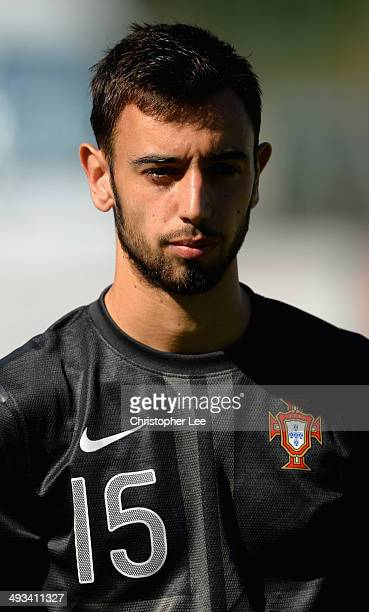 Bruno Fernandes of Portugal during the Toulon Tournament Group A match between Portugal and Chile at the Stade Perruc on May 23 2014 in Hyeres France