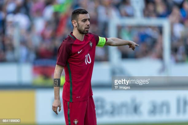 Bruno Fernandes of Portugal gestures during the International Friendly match between Germany U21 and Portugal U21 at GaziStadion on March 28 2017 in...