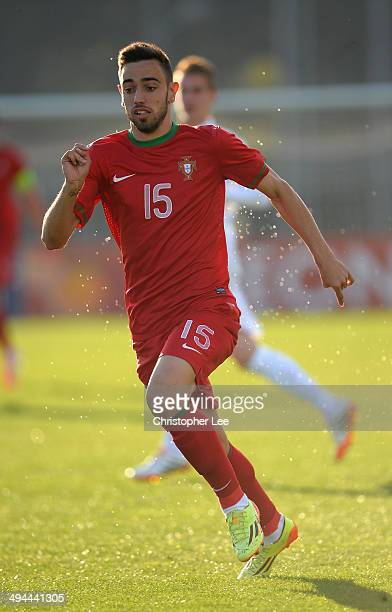Bruno Fernandes of Portugal in action during the Toulon Tournament Group A match between France v Portugal at the Leo Legrange Stadium on May 29 2014...
