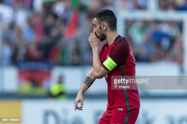 Bruno Fernandes of Portugal looks on during the International Friendly match between Germany U21 and Portugal U21 at GaziStadion on March 28 2017 in...