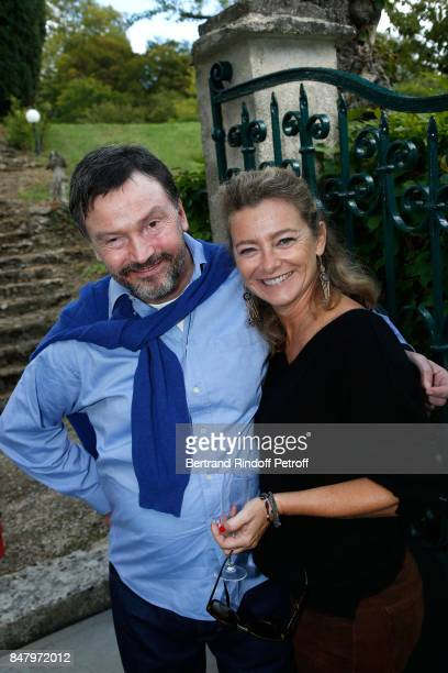 Bruno Finck and actress Valerie Payet attend the Garden Party organized by Bruno Finck companion of JeanClaude Brialy at Chateau De Monthyon on...