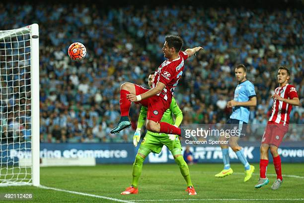 Bruno Fornaroli of Melbourne City FC kicks during the round one ALeague match between Sydney FC and Melbourne City FC at Allianz Stadium on October...