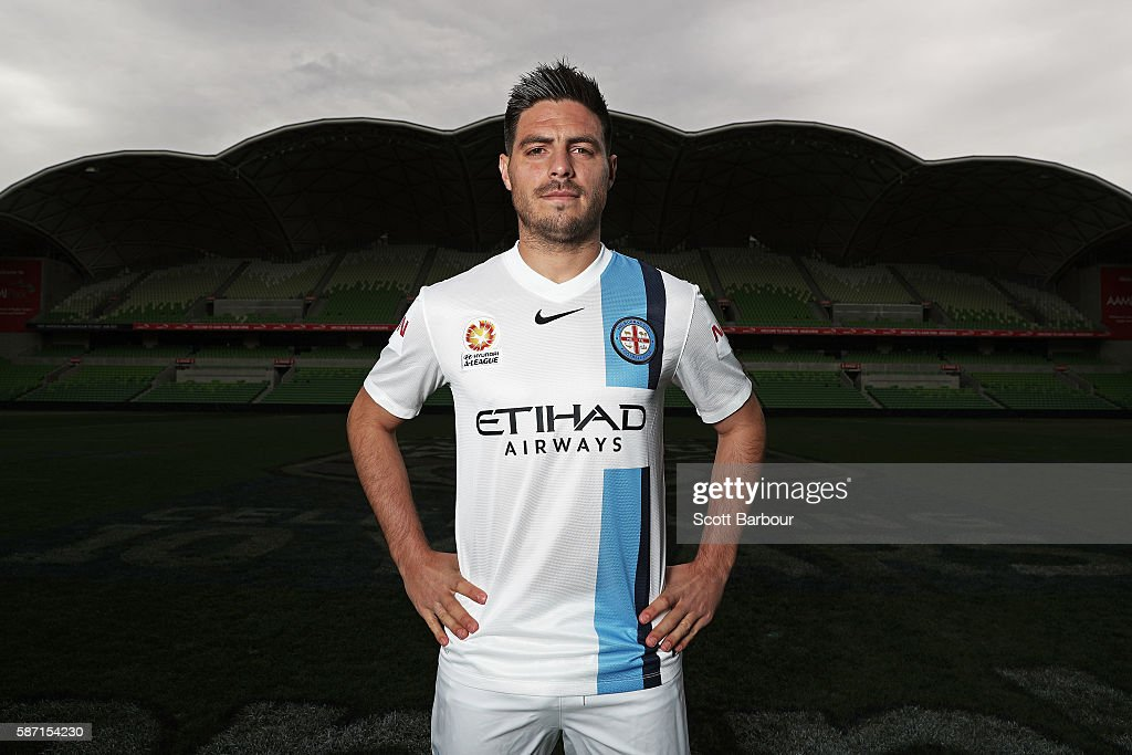 Bruno Fornaroli of Melbourne City poses during a Melbourne City FC ALeague media session at AAMI Park on August 8 2016 in Melbourne Australia...