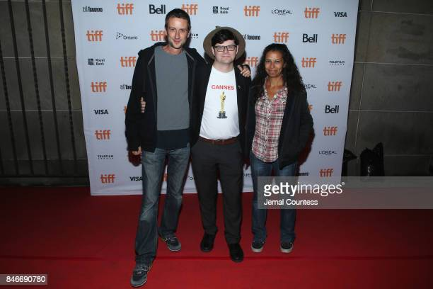Bruno Forzani TIFF programmer Peter Kuplowsky and Helene Cattet attend the 'Let the Corpses Tan' premiere during the 2017 Toronto International Film...