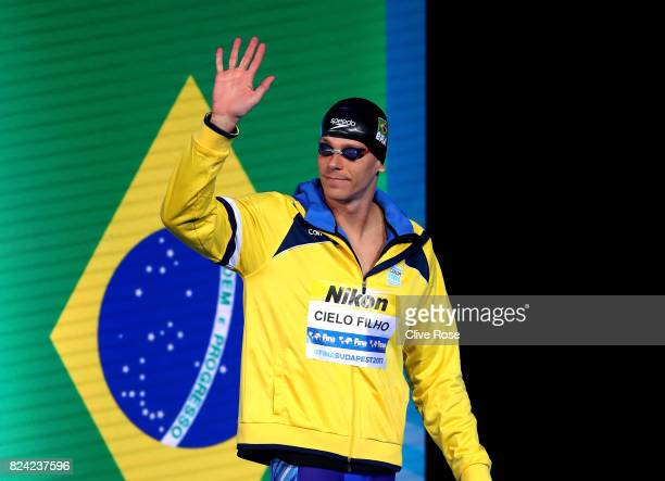 Bruno Fratus of Brazil walks out prior to the Men's 50m Freestyle final on day sixteen of the Budapest 2017 FINA World Championships on July 29 2017...