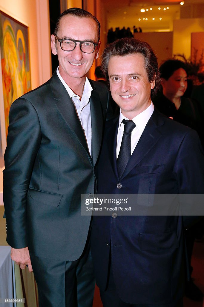 Bruno Frisoni and Count Jean-Guillaume d'Ornano attend the the dinner of the friends of the 'Musee d'Art Moderne de la ville de Paris' on October 22, 2013 in Paris, France.
