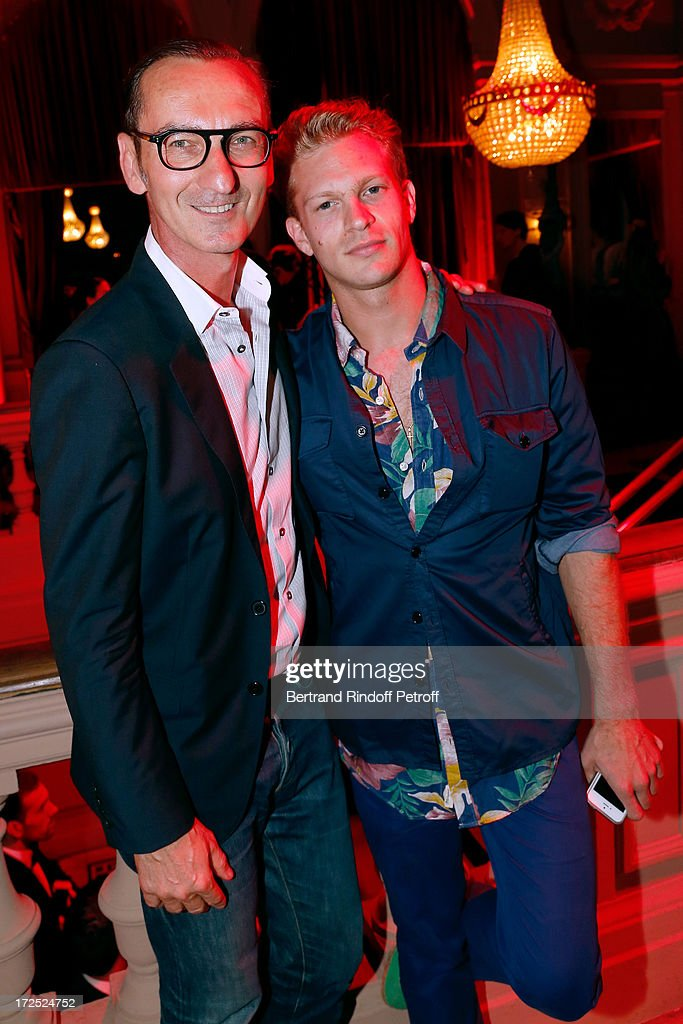 Bruno Frisoni and guest attend 'Lancome show by Alber Elbaz' Party at Le Trianon on July 2, 2013 in Paris, France.