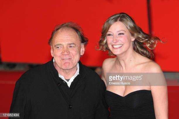 Bruno Ganz and Alexandra Maria Lara attend the premiere of 'Youth Without Youth' at the Auditorium of Rome during the 2nd Rome Film Festival October...