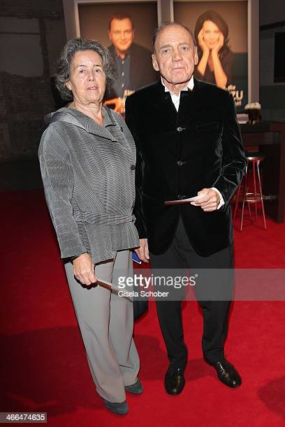 Bruno Ganz and wife Ruth Walz attend the Goldene Kamera 2014 at Tempelhof Airport Hangar 7 on February 1 2014 in Berlin Germany