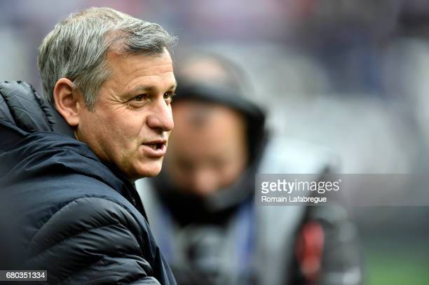 Bruno Genesio of Lyon during the Ligue 1 match between Olympique Lyonnais and Fc Nantes at Stade des Lumieres on May 7 2017 in Lyon France