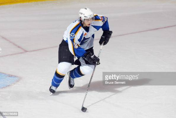 Bruno Gervais of the Bridgeport Sound Tigers starts the break out play against the WilkesBarre/Scranton Penguins at Bridgeport's Arena at Harbor Yard...