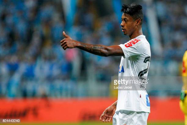 Bruno Henrique of Santos during the match Gremio v Santos as part of Brasileirao Series A 2017 at Arena do Gremio on July 30 in Porto Alegre Brazil