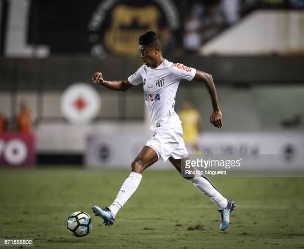 Bruno Henrique of Santos in action during the match between Santos and Vasco da Gama as a part of Campeonato Brasileiro 2017 at Vila Belmiro Stadium...