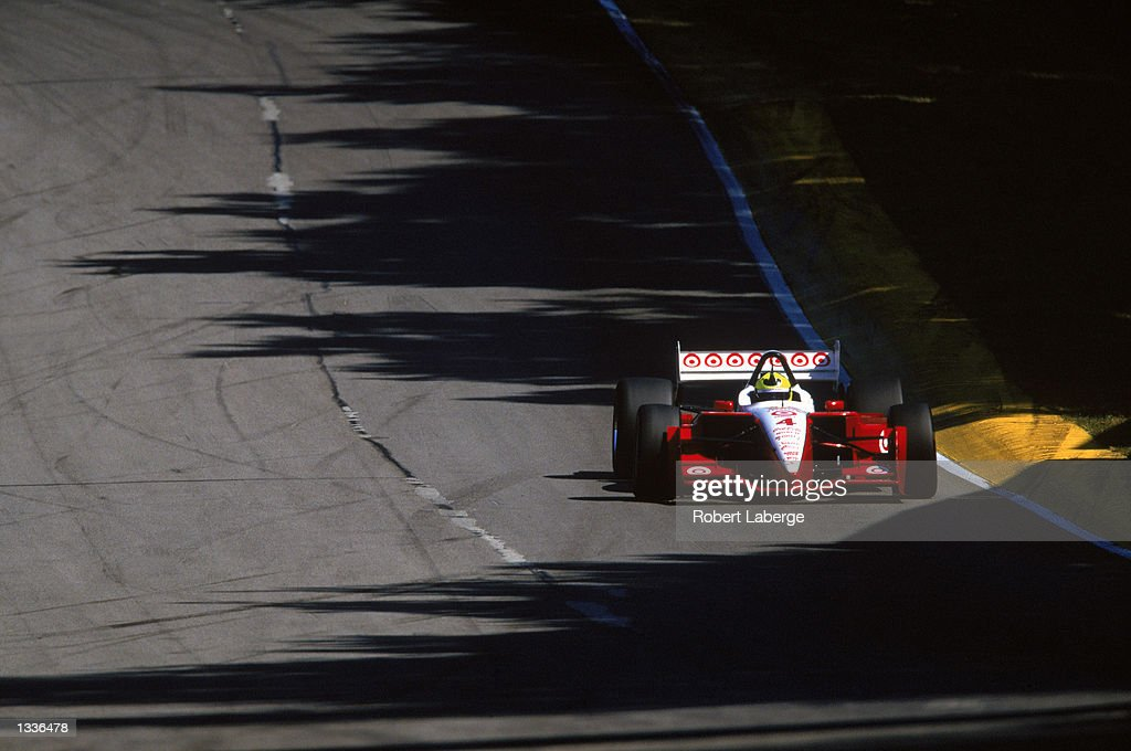 Bruno Junqueira #4 drives his Target Chip Ganassi Racing Toyota Lola during the CART Grand Prix of Mid-Ohio, round 11 of the CART Fed Ex Championship Series, at the Mid-Ohio Sports Car Course in Lexington, Ohio on August 10, 2002. (Photo by Robert Laberge /Getty Images).