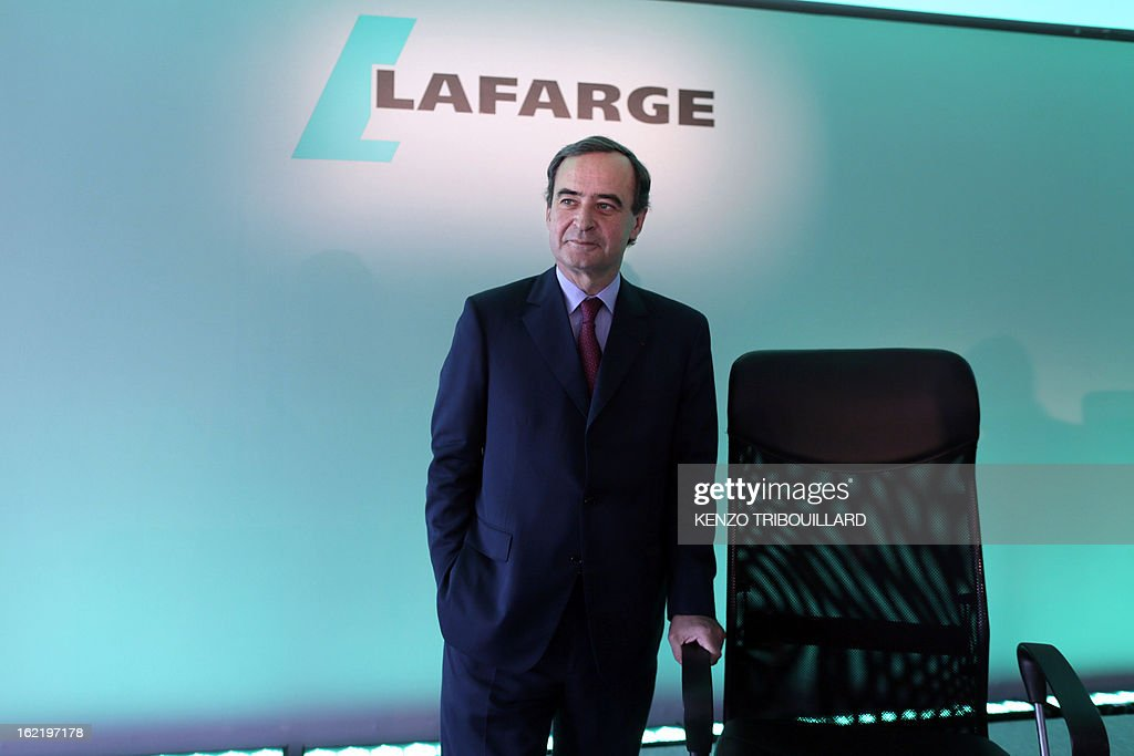 Bruno Lafont, Chief Executive of France's Lafarge, the world's biggest cement maker, is pictured before presenting the group's 2012 results in Paris during a press conference on February 20, 2013.