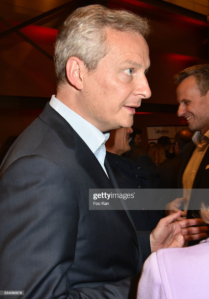 Bruno Le Maire attends Atlantico 5th Anniversary at Cafe Campana in