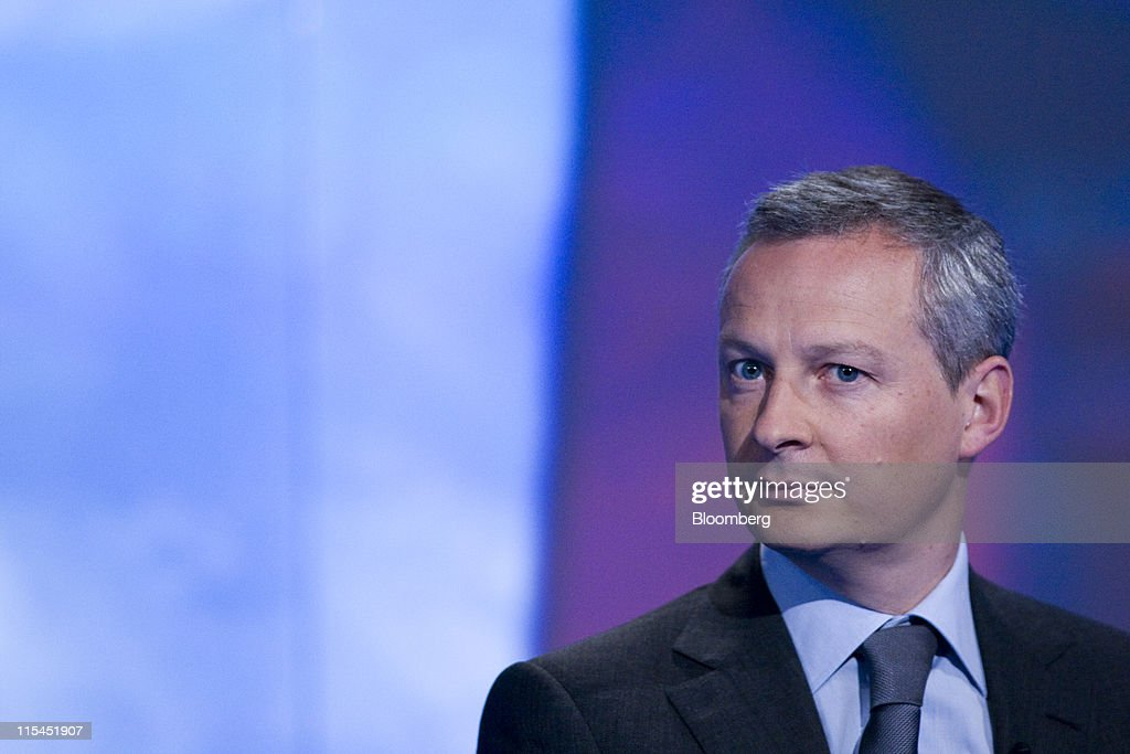 <a gi-track='captionPersonalityLinkClicked' href=/galleries/search?phrase=Bruno+Le+Maire&family=editorial&specificpeople=877418 ng-click='$event.stopPropagation()'>Bruno Le Maire</a>, France's agriculture minister, pauses during a Bloomberg via Getty Images Television interview in London, U.K., on Tuesday, June 7, 2011. France, the European Union's largest agricultural grower, said it will back a plan to compensate producers hurt by an outbreak of E. coli that has decimated consumer demand for vegetables. Photographer: Chris Ratcliffe/Bloomberg via Getty Images