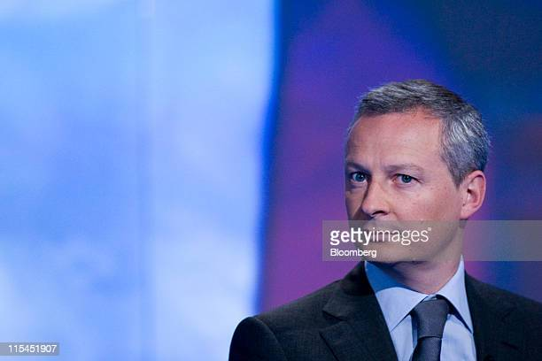 Bruno Le Maire France's agriculture minister pauses during a Bloomberg via Getty Images Television interview in London UK on Tuesday June 7 2011...