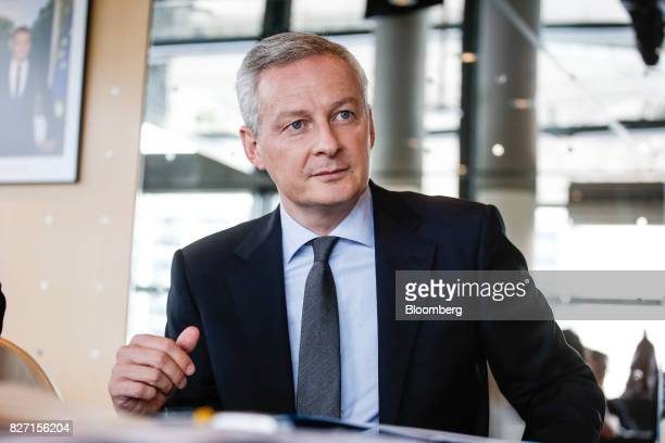 Bruno Le Maire France's finance minister pauses during an interview in Paris France on Friday Aug 4 2017 Le Mairesaid the French governments 10...