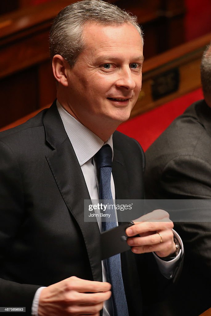 MP Bruno Le Maire of UMP participates at the Questions to the