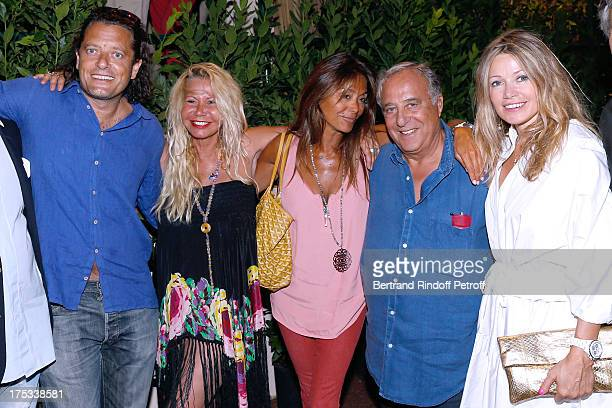 Bruno Le Roi Actress Fiona Gelin Nathalie Bennahim Daniel Hechter and Ines Beltramini attend 'Student and Mr Henri' play at 29th Ramatuelle Festival...