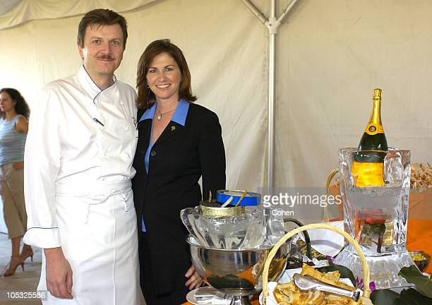 Bruno Lopez and Lara Weiss of Raffles L'Ermitage during Raffles L'Ermitage Beverly Hills 5th Anniversary Celebration at Raffles L'Ermitage Beverly...