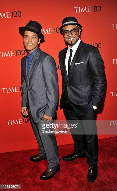 Bruno Mars and songwriter Philip Lawrence attend the TIME 100 Gala TIME'S 100 Most Influential People In The World at Frederick P Rose Hall Jazz at...