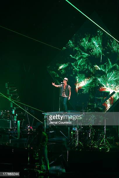 Bruno Mars performs at the 2013 MTV Video Music Awards at the Barclays Center on August 25 2013 in the Brooklyn borough of New York City