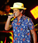 Bruno Mars performs at the Concert for UCSF Benioff Children's Hospitals Benefit presented by Salesforcecom Foundation with Annual Dreamforce Gala at...