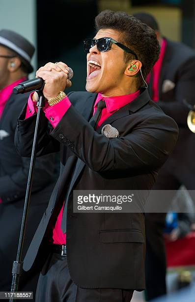 Bruno Mars performs on NBC's 'Today' at Rockefeller Center on June 24 2011 in New York City