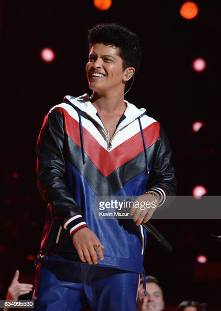 Bruno Mars performs onstage during The 59th GRAMMY Awards at STAPLES Center on February 12 2017 in Los Angeles California
