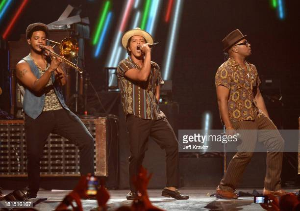 Bruno Mars performs onstage during the iHeartRadio Music Festival at the MGM Grand Garden Arena on September 21 2013 in Las Vegas Nevada